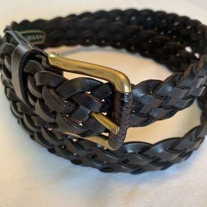 Cole Hana 36 black leather braded belt